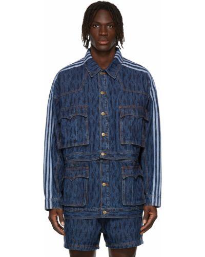 Синяя куртка с карманами Adidas X Ivy Park