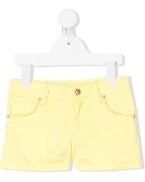 Желтые джинсовые шорты Billieblush