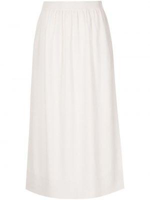 Шерстяная юбка миди - белая Altuzarra