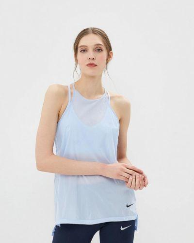 Голубая спортивная майка Nike