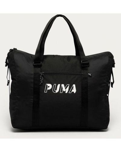Czarna torba podróżna z printem Puma