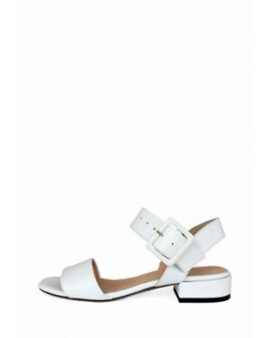 Белые кожаные сандалии Pera Donna