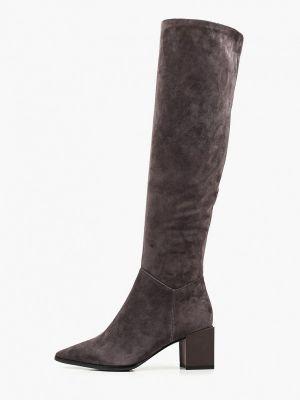 Велюровые ботфорты - серые Just Couture