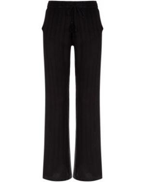 Облегченные черные свободные брюки свободного кроя из вискозы Protest