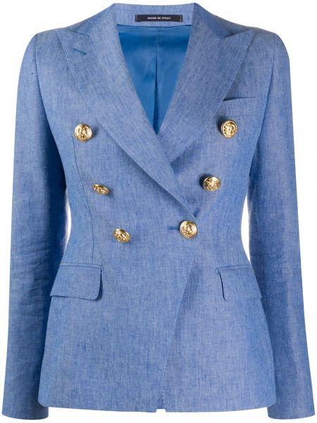 Классический пиджак льняной прямой Tagliatore