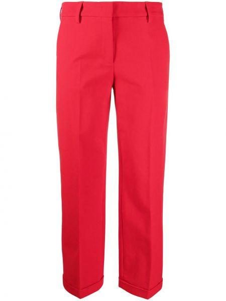 Красные хлопковые брюки дудочки стрейч Piazza Sempione