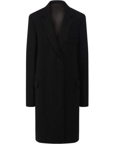 Черное пальто шерстяное Helmut Lang