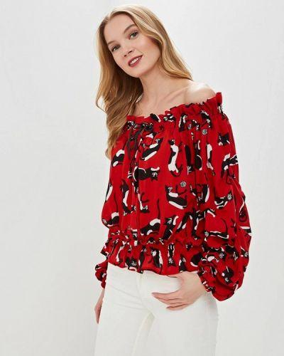 Блузка с открытыми плечами весенний красная Tutto Bene