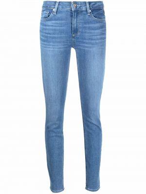 Синие облегающие зауженные джинсы на пуговицах Paige