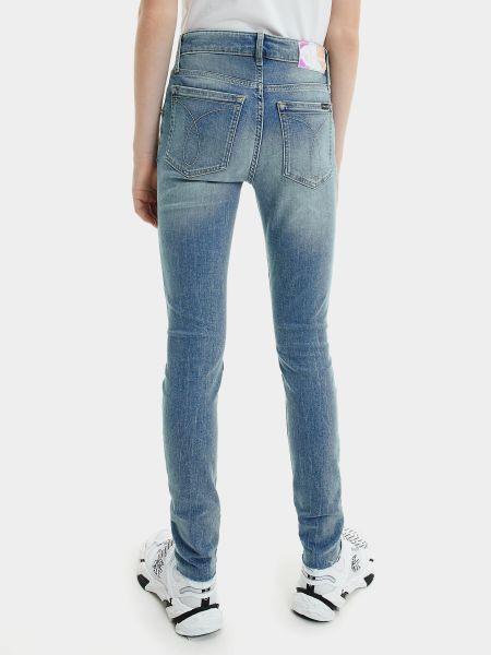 Джинсы с завышенной талией - синие Calvin Klein