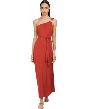 Платье с поясом на одно плечо на бретелях Max Mara