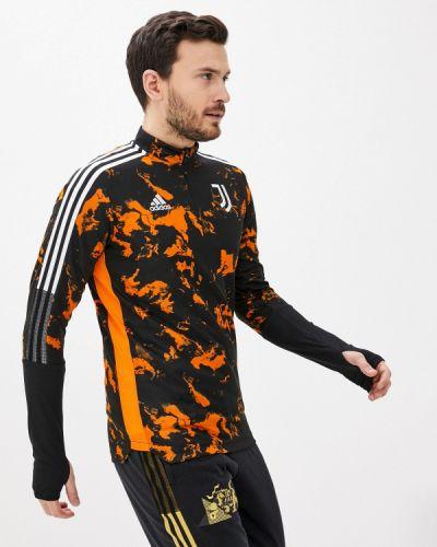 Оранжевый спортивный лонгслив Adidas