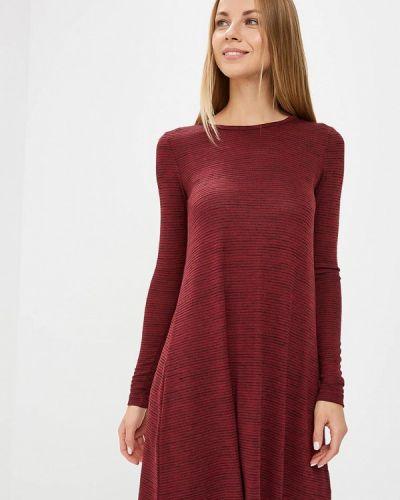 Платье осеннее красный Modis