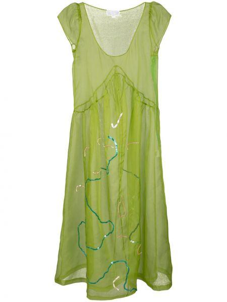 Sukienka midi - zielona Collina Strada