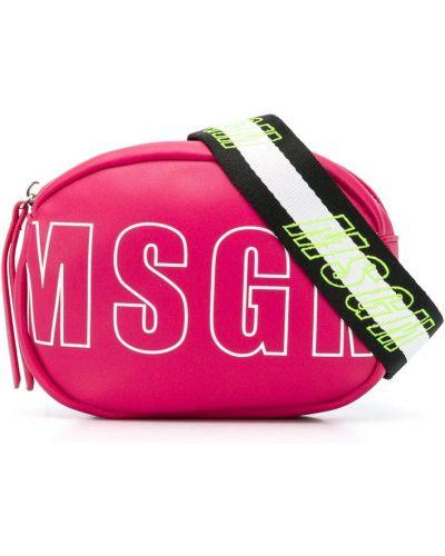 С ремешком розовая сумка на плечо Msgm Kids