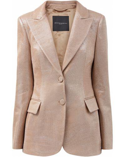Розовый приталенный пиджак на пуговицах с подкладкой Ermanno Scervino