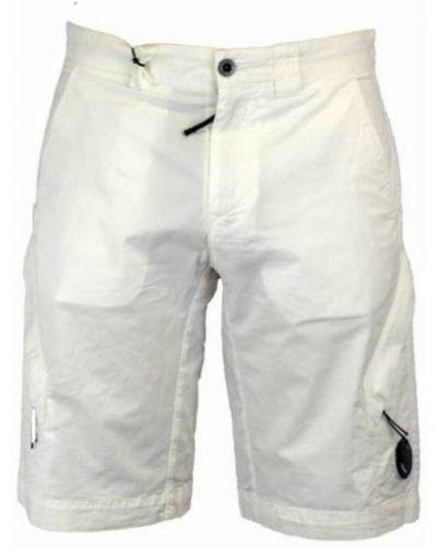 Białe bermudy w paski casual C.p. Company