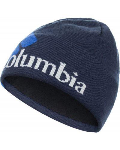 Синяя шапка спортивная Columbia