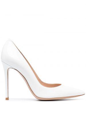 Белые туфли-лодочки на каблуке на высоком каблуке Gianvito Rossi