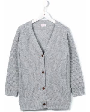 Серый шерстяной топ на пуговицах с карманами Morley