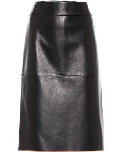 Черная юбка миди в рубчик Tod's