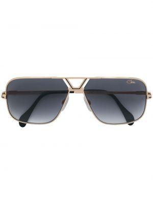 Желтые солнцезащитные очки квадратные металлические с завязками Cazal