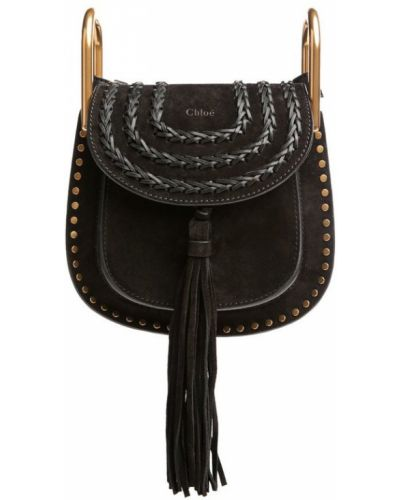 Кожаная сумка плетеная с заклепками Chloé