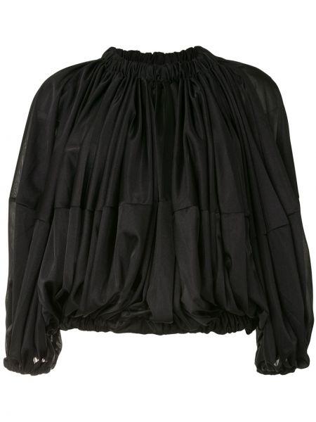 С рукавами черная блузка свободного кроя с вырезом Comme Des Garçons