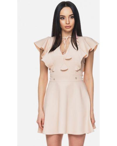 Платье весеннее розовое 0101 Brand