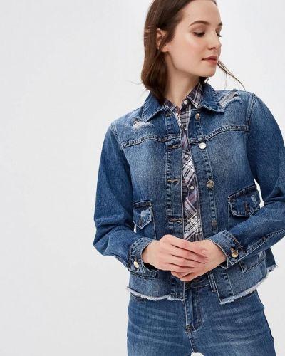 Джинсовая куртка осенняя синий Sh
