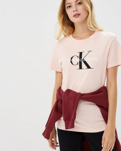 Розовая футболка Calvin Klein Jeans