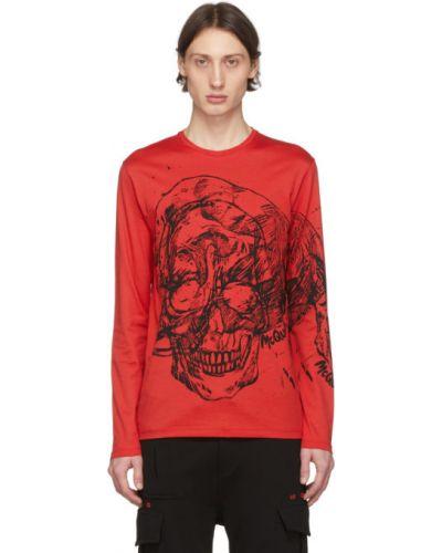 Рубашка с длинным рукавом с принтом с черепами Alexander Mcqueen