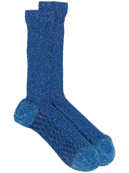 Синие носки в рубчик Missoni