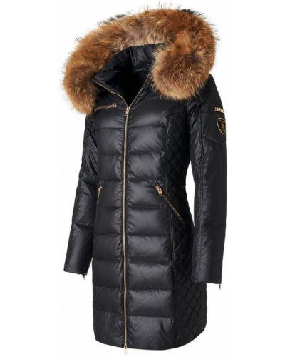 Czarna kurtka pikowana z kapturem Rockandblue