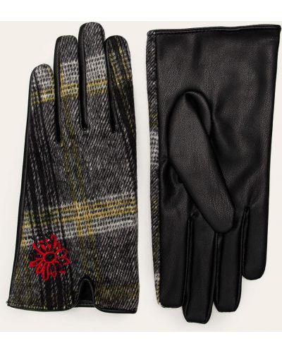 Кожаные перчатки серые универсальный Desigual