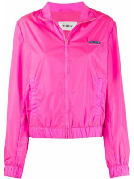 Розовая спортивная куртка на молнии с воротником Misbhv