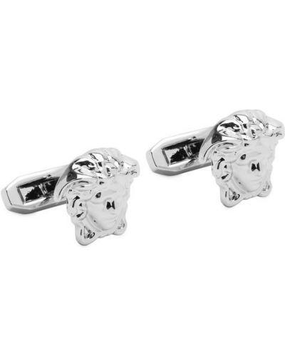 Запонки из серебра серебряного цвета Versace