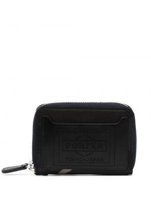Portfel skórzany - czarny Porter-yoshida & Co