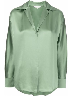 Zielona bluzka z dekoltem w serek Vince