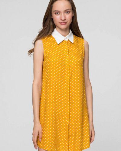 Желтое платье мини Minimally