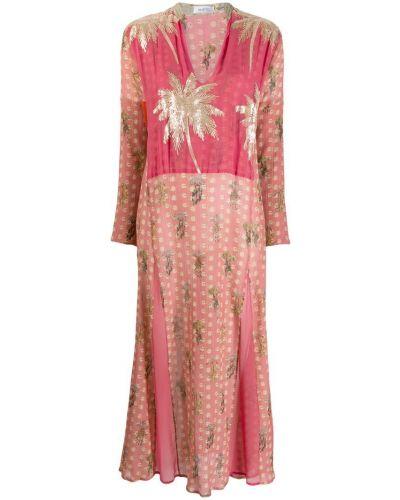 Розовое платье на молнии Ailanto