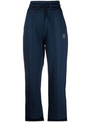 Niebieskie joggery bawełniane z printem Adidas By Stella Mccartney