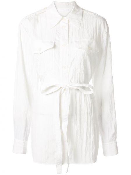 Рубашка с длинным рукавом белая с карманами Helmut Lang