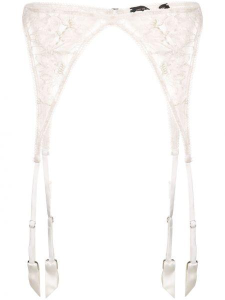 Podwiązka z paskiem - biała Kiki De Montparnasse