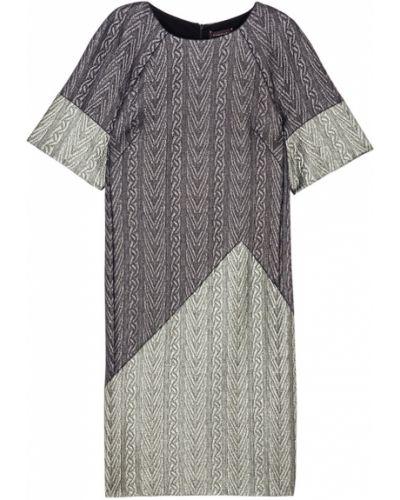 Хлопковое прямое серое платье Chapurin