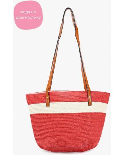 Соломенная пляжная красная сумка Katomi