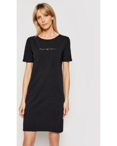 Czarna koszula nocna Emporio Armani Underwear