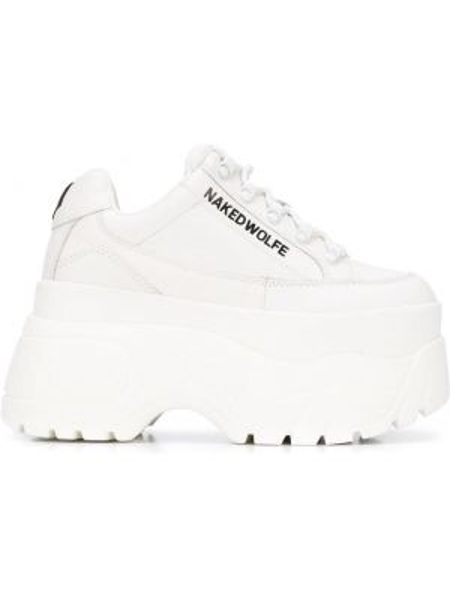 Кроссовки на шнуровке - белые Naked Wolfe