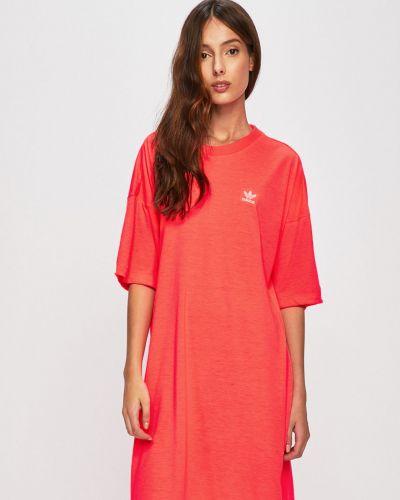Свободное розовое платье Adidas Originals