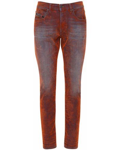 Бархатные синие джинсы с карманами Diesel